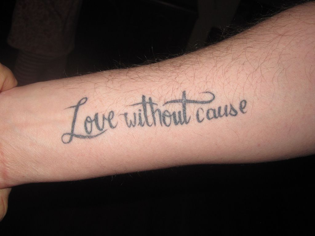 Love Quote Tattoos 60 Tattoo Quotes , Short And