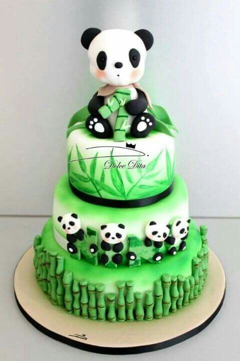 Enjoyable Super Cute Panda Cake So Getting This For My Next Birthday Funny Birthday Cards Online Aboleapandamsfinfo
