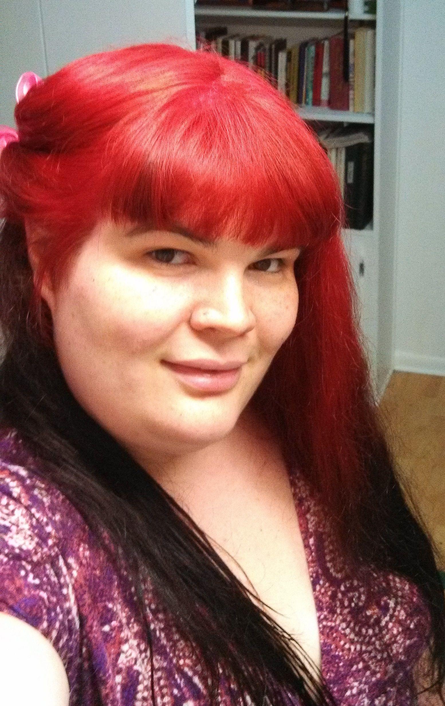 How To Dye Phoenix Fire Hair Red To Yellow Ombre Splat Hair Dye Hair Dye Tutorial Flame Hair