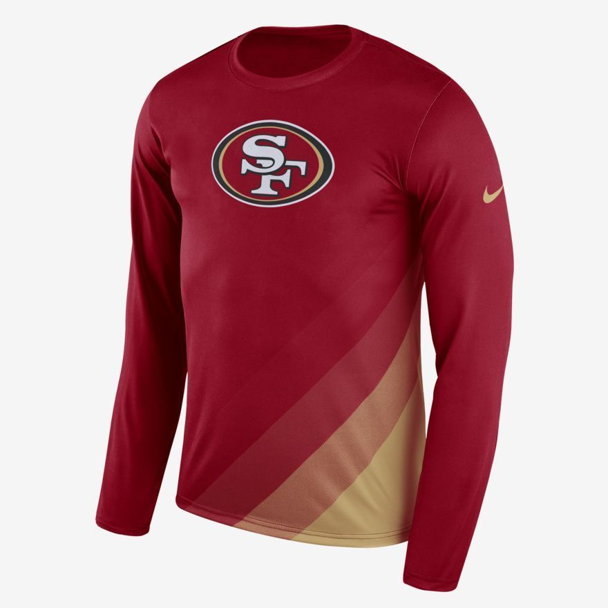 Nike NFL San Francisco 49ers Dry Legend Prism LS Mens Shirt M Red 875144  687  Nike  SanFrancisco49ers 184882b3a