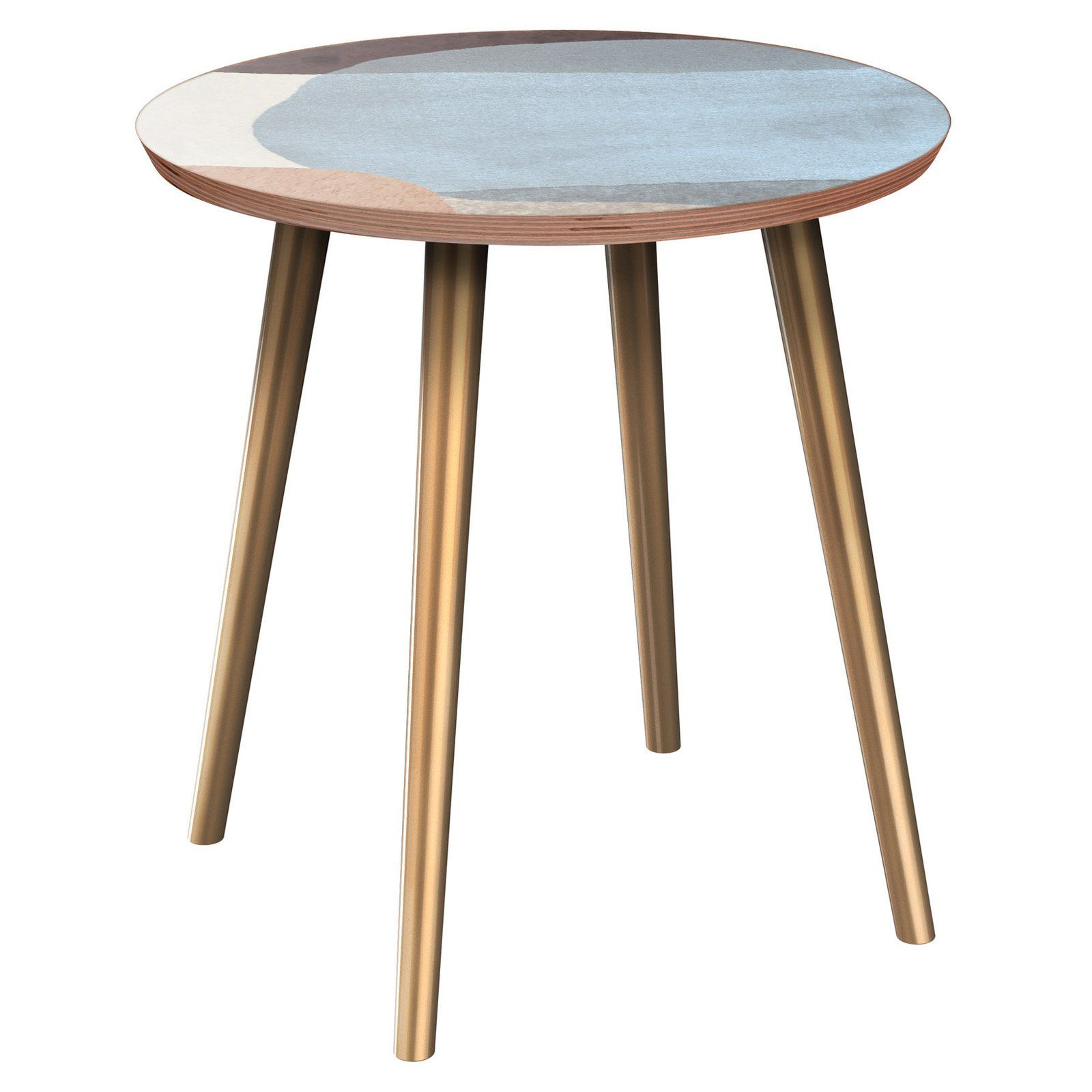 Nyekoncept Stella Nordic Watercolor Flare Side Table Products In