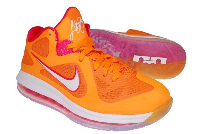d753f845ce812 Amazon.com | Nike LEBRON 9 Low Miami Floridians Vivid Orange Cherry ...