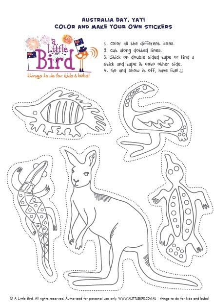 Free Online Printable Kids Colouring Pages - Australian Map ...
