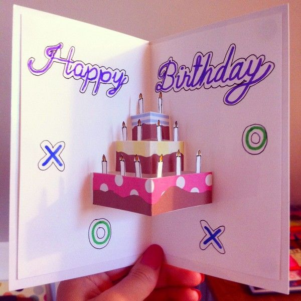 37 Homemade Birthday Card Ideas and Images – Best Birthday Card Design