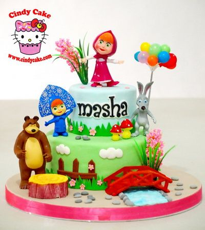 Masha And The Bear Birthday Cake cakepinscom