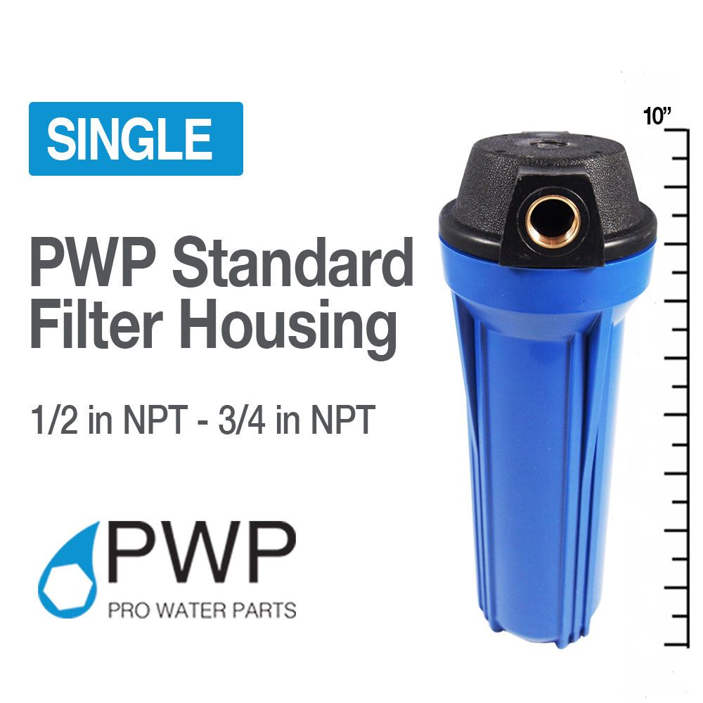 10x2 5 Blue Water Filter Housing 3 4 Npt W Brassinsert Whole House Ro Pwp Agua