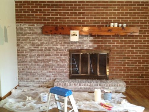 Fireplace Remodel Houzz White Wash Brick Fireplace White Wash Brick Fireplace Remodel