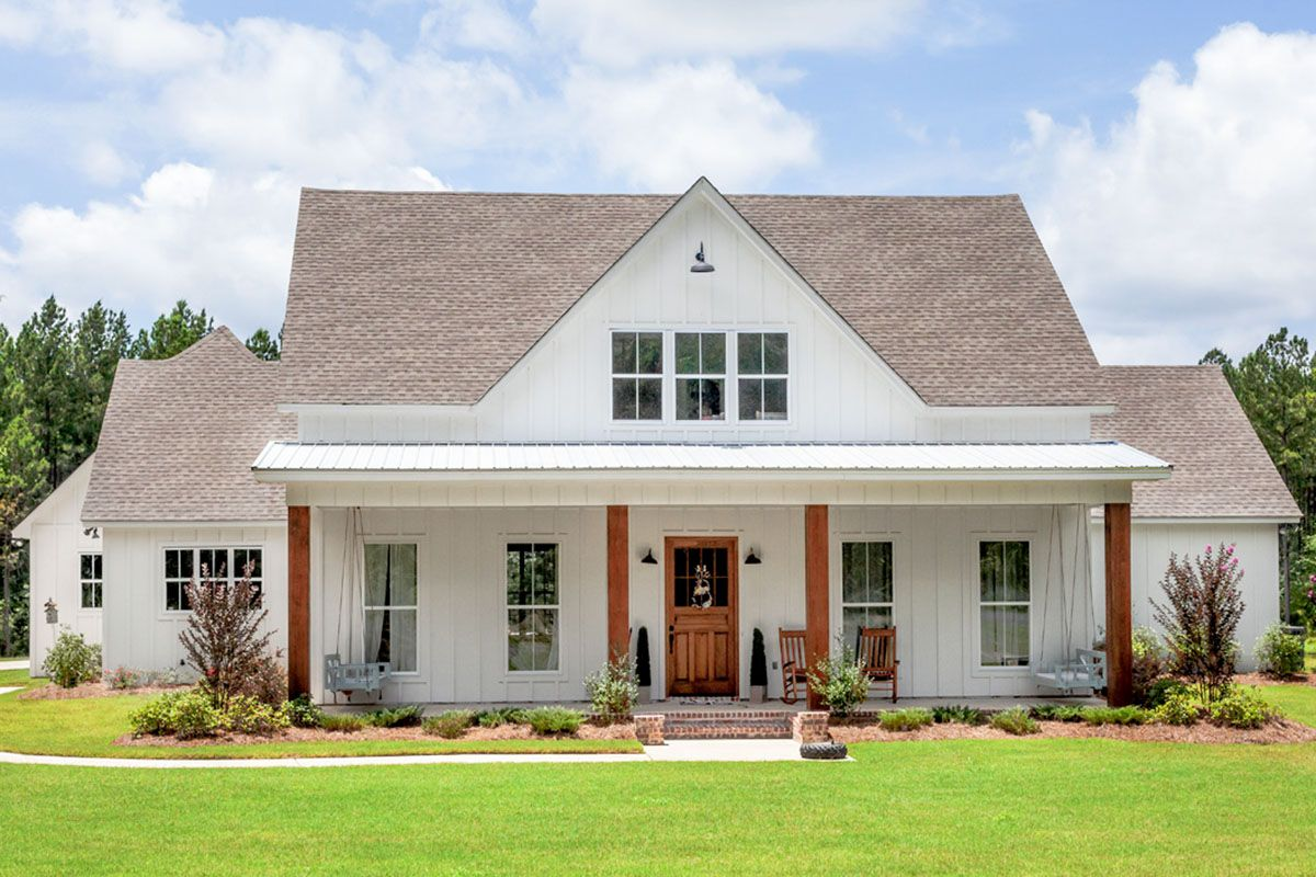 43++ White farmhouse plans most popular