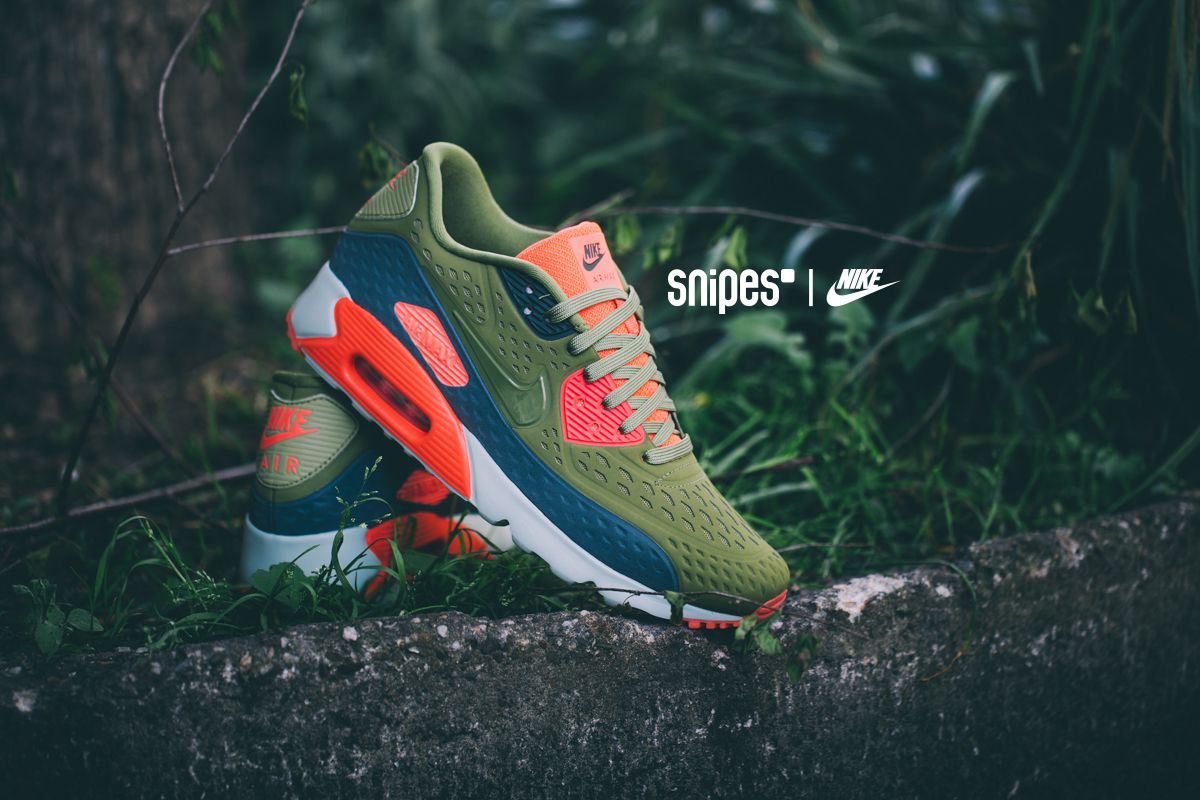 NIKE Schuh Air Max 90 Ultra BR greenbright crimson
