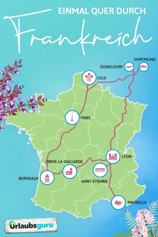 Viaje por carretera a través de Francia | Urlaubsguru.de #futuretravel Una vez al otro lado …