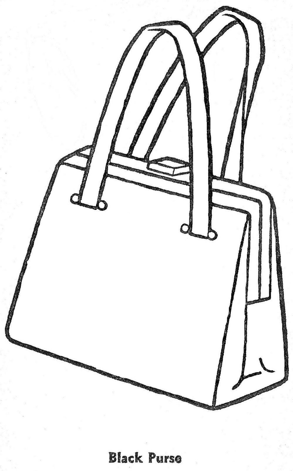 Раскраска распечатать сумка
