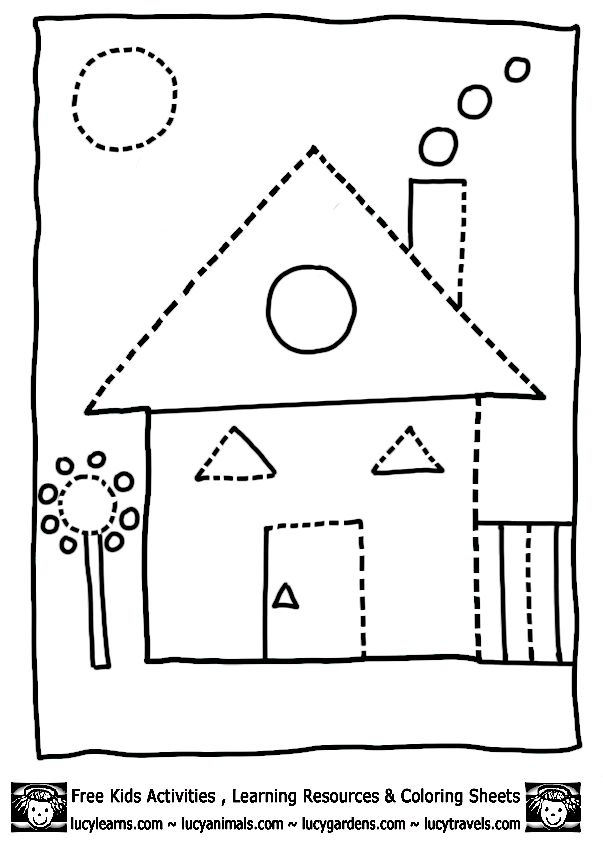 Image from http://www.lucylearns.com/images/house-shape-coloring ...