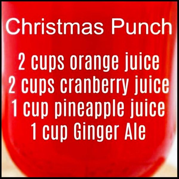 9 Easy Punch Recipes For a Crowd - Simple Party Drinks Ideas (both NonAlcoholic and With Alcohol) - Involvery #christmasmorningpunch