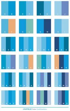Light blue color schemes, color combinations, color palettes
