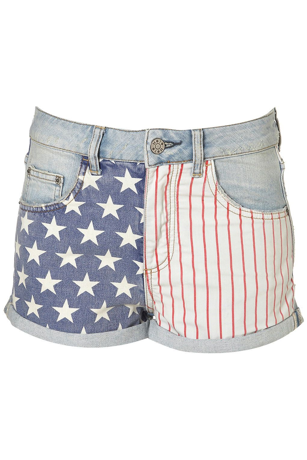 can't go wrong, with some red white and blue. What is great about these shorts is that they can be made and customized at home. fabric+fabric glue+any shorts, you can even use bleach!