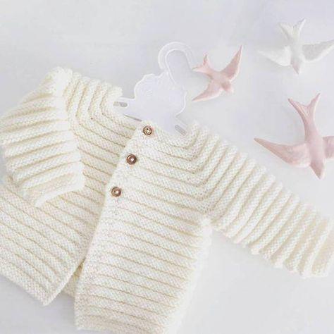 Photo of Strick-Baby-Strickjacke – Merino-Strick-Baby-Strickjacke – handgestrickter Pullover – handgemachtes Neugeborenes – gestrickte Babyjacke – Neugeborenen-Strick