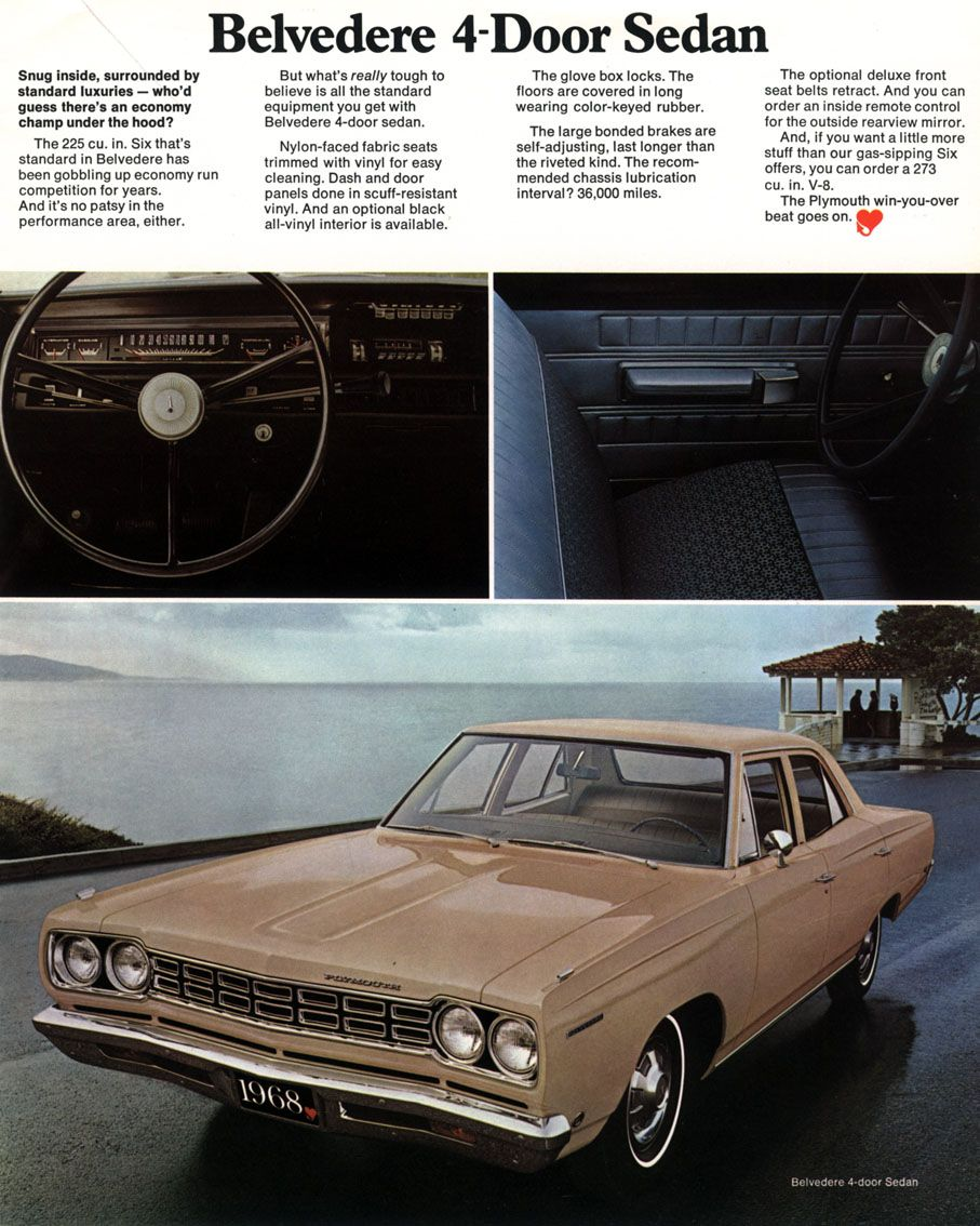 1968 Plymouth Brochure Car Ads Plymouth Plymouth Cars
