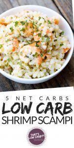 Low Carb Shrimp Scampi Recipe - Low Carb Recipes by That's Low Carb? #shrimpscampi Low Carb Shrimp Scampi Recipe - Low Carb Recipes by That's Low Carb? #shrimpscampi