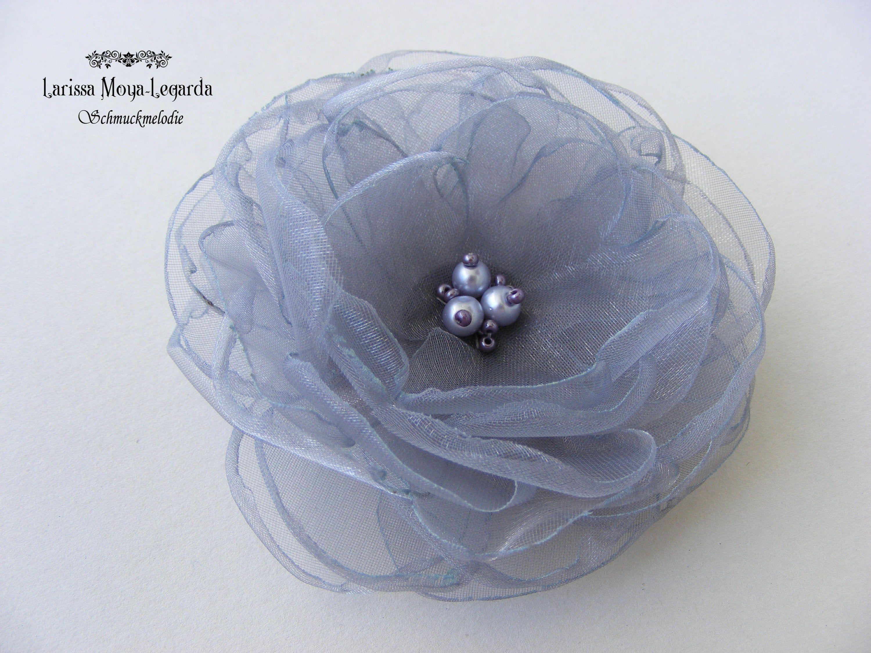 Blumenanstecker// Anstecker mit Blüte   Rose  grau    Hochzeit  Neu