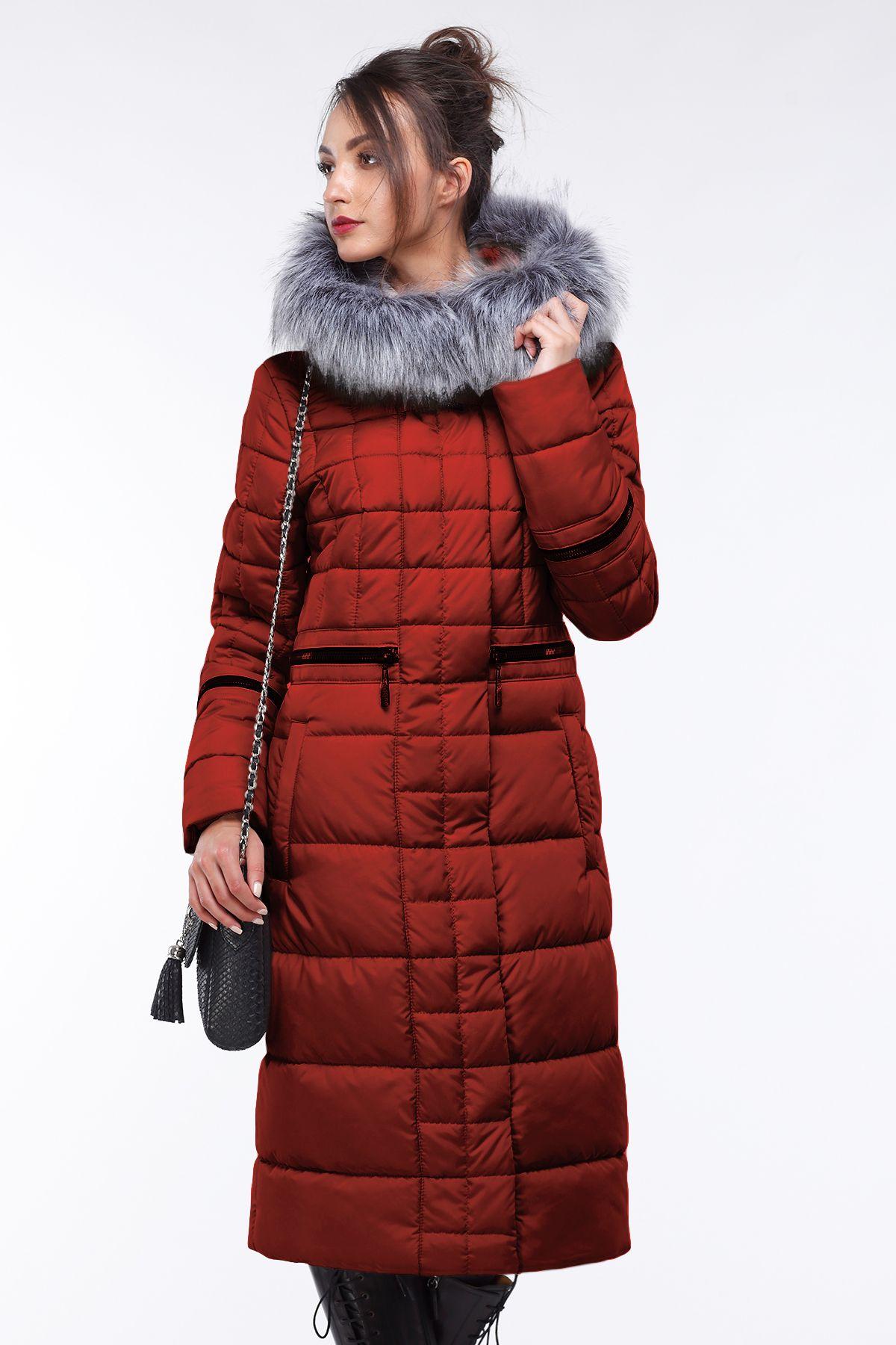 7d836e4108ac Женский длинный пуховик пальто с мехом Амина от Nui Very - длинная куртка  зима, женская