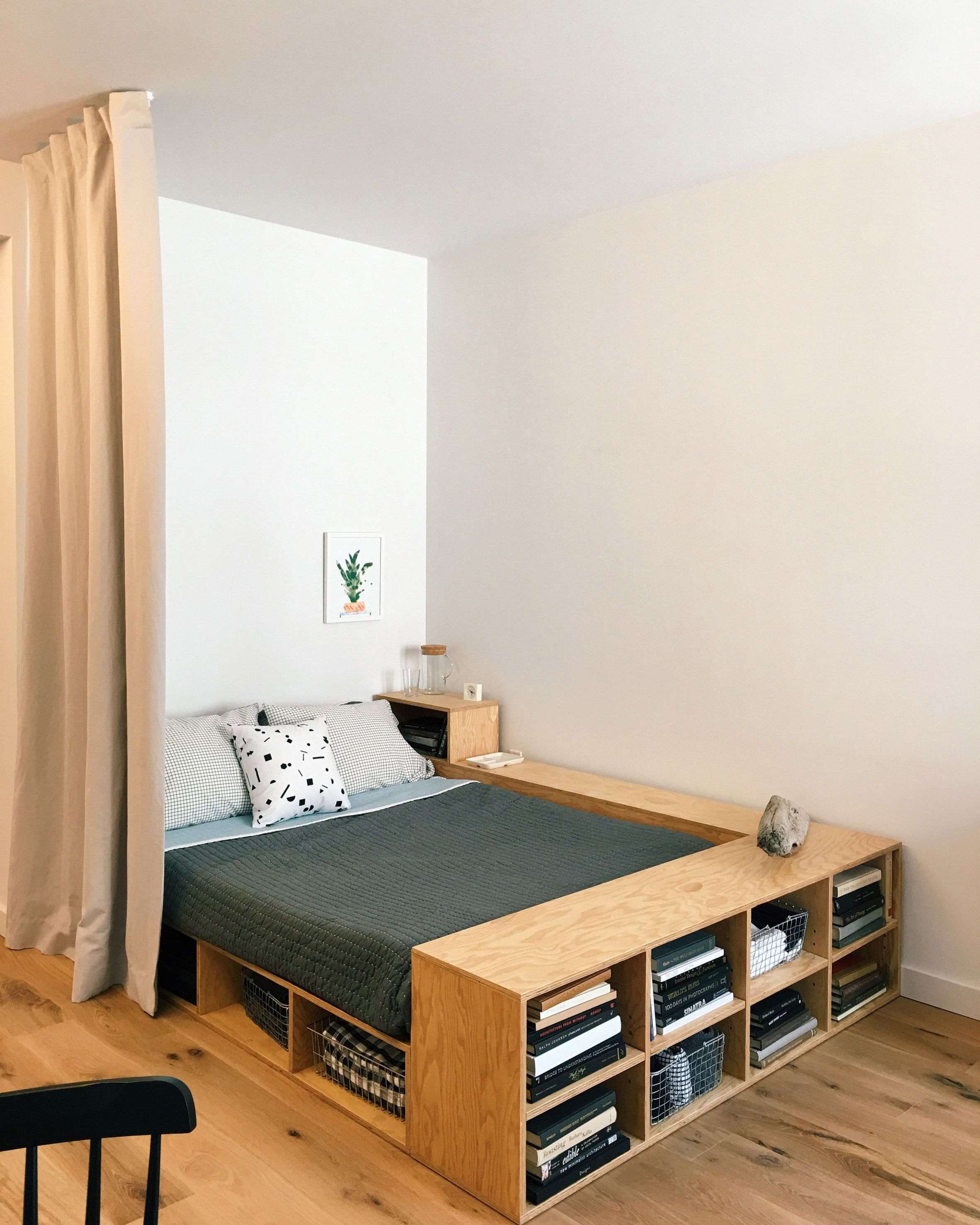 Simple Yet Functional Bed Love The Clever Storage Space Designed