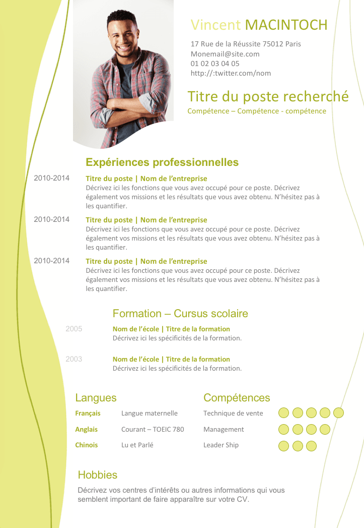Epingle Par Laure Laurent Sur Cv Exemple Cv Cv Gratuit Telecharger Cv Gratuit