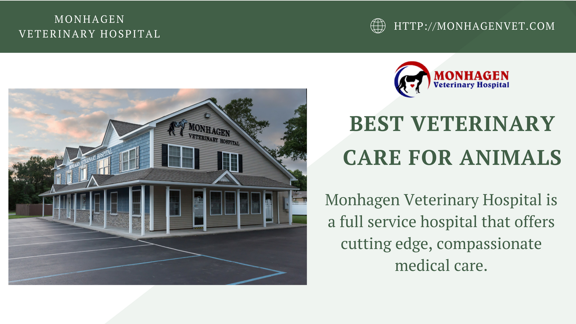 Monhagen Veterinary Hospital Is A Full Service Animal Hospital In