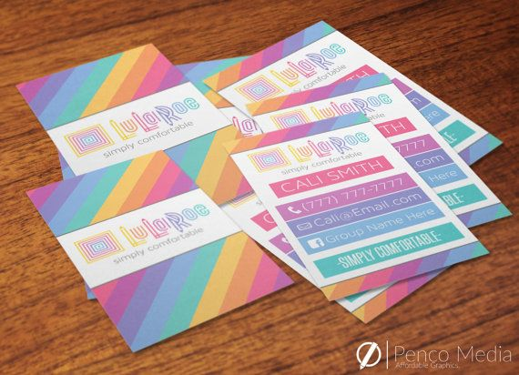 Custom Vertical Lularoe Business Cards Design Option 6 Perfect For Parties Advertising And Ma Lularoe Business Cards Lularoe Business Business Card Design