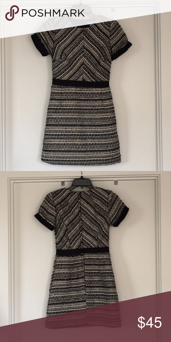 172271d1ae15f H&M Quilted Dress Quilted tweed-like material Color: Black, cream, gold  accents Size: 4 Length: 32 Condition: Like new Great for work with a blazer  or ...