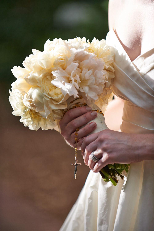 My favorite rosary pic.  Read More: http://www.stylemepretty.com/little-black-book-blog/2014/09/30/modern-carillon-village-green-wedding/