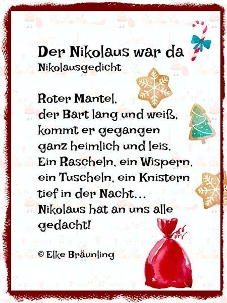 der nikolaus war da kleines nikolausgedicht gedicht. Black Bedroom Furniture Sets. Home Design Ideas
