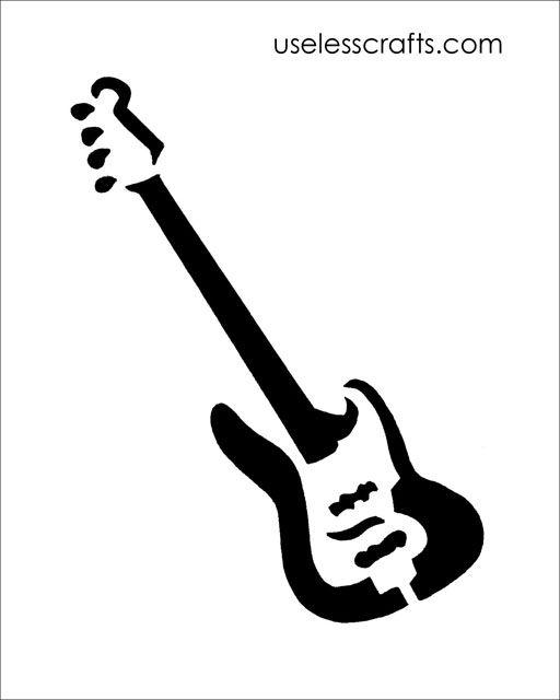 Free guitar stencil download. #stencil #guitar #freezerpaper ...