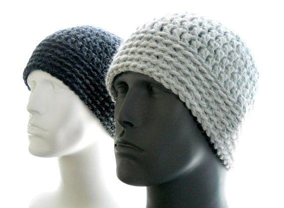 Crochet Pattern The Chunky Guy Beanie For Men Crochet Hat Etsy Crochet Mens Hat Crochet Hats Mens Crochet