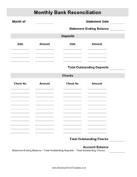 Balance sheet account reconciliation tutorial (ppt); Monthly Bank Reconciliation Template Reconciliation Account Reconciliation Templates