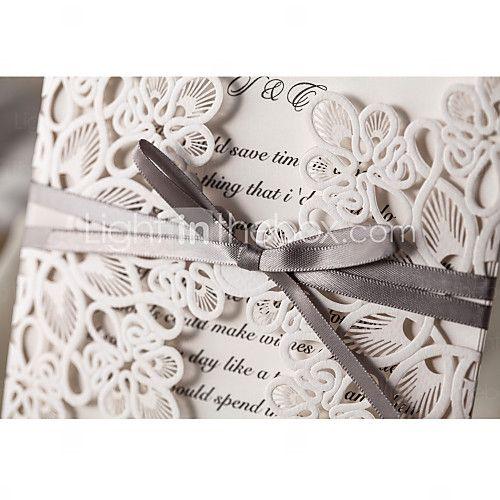 Elegant Flora Design White Wedding Invitation-Set Of 10/20/50   LightInTheBox