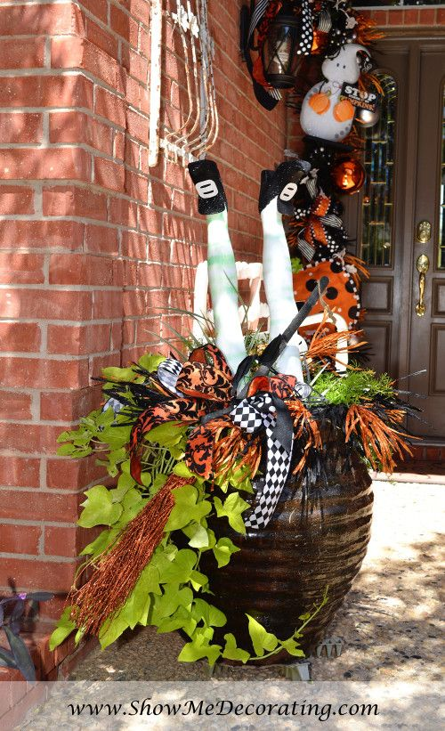 Halloween House tour\u2026e on if you dare! Whimsical, Witches and - when should you decorate for halloween
