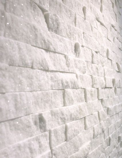 Italian Bianco Carrera White Carrara 1x2 Marble Split Face Mosaic Tile On 12 Inch X Sheet 1 Square Foot
