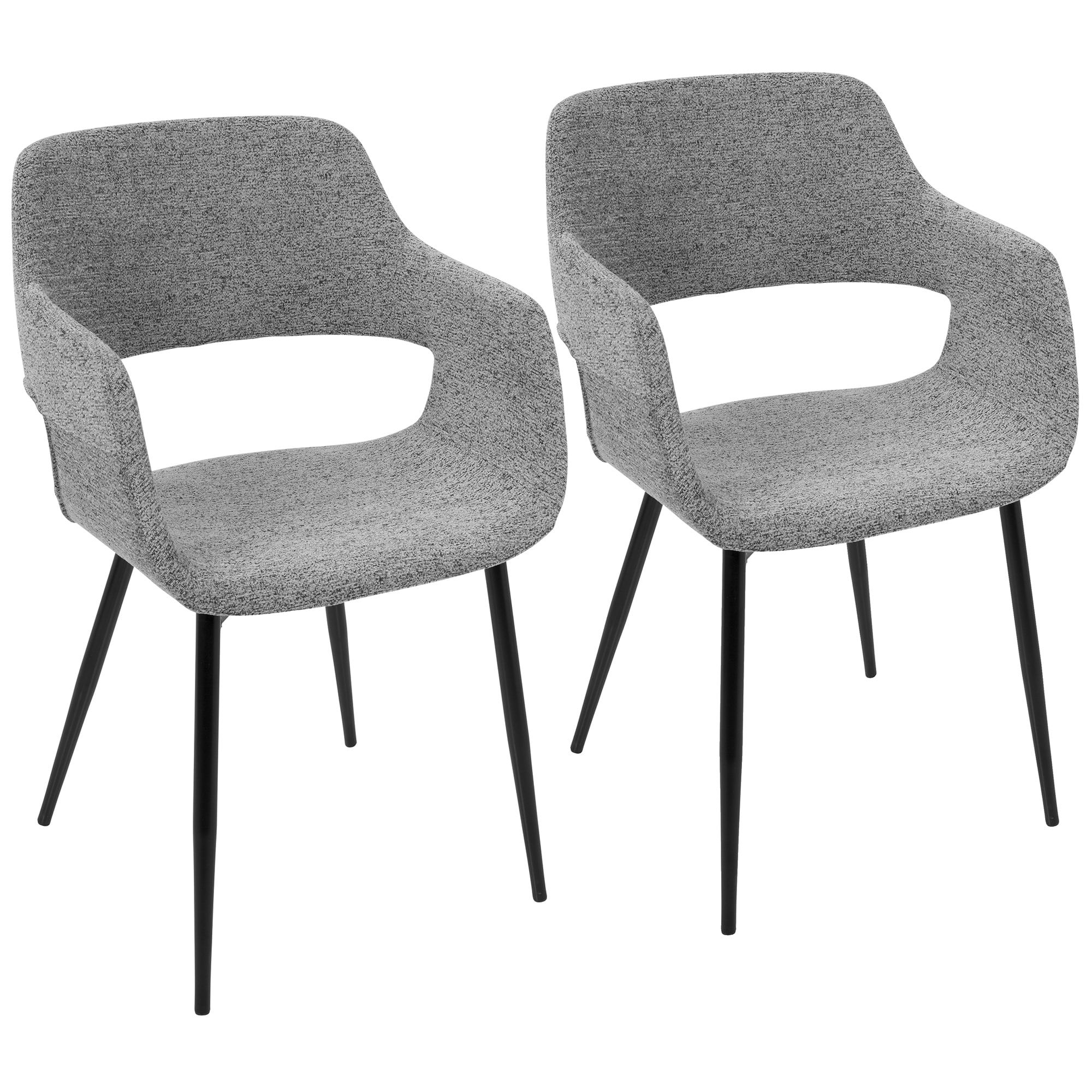 LumiSource Margarite Mid Century Modern Dining Accent Chair Set of