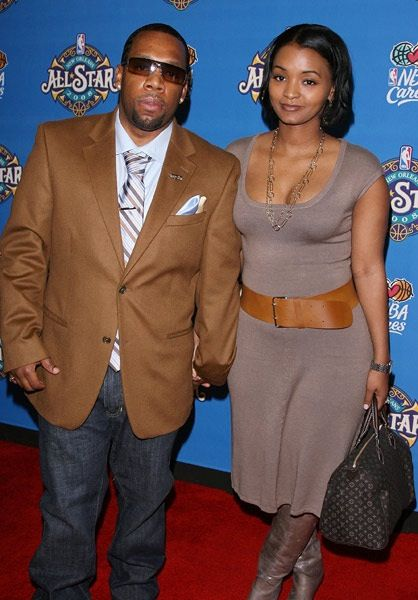 Michael Bivins with relaxed, Wife Teasha Bivins