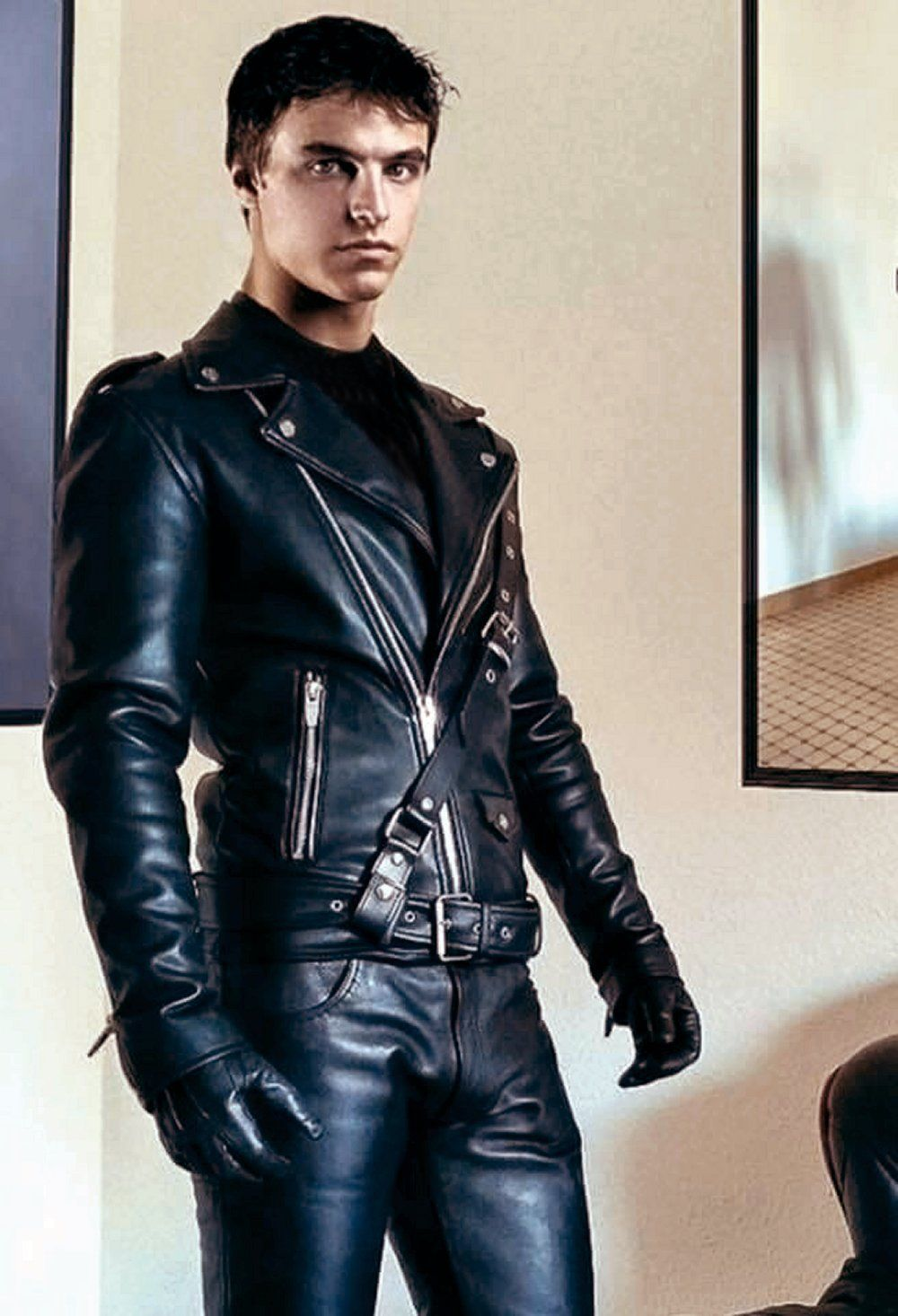 Cool Boys In Leather Leather Jacket Men Tight Leather Pants Mens Leather Pants [ 1466 x 1000 Pixel ]