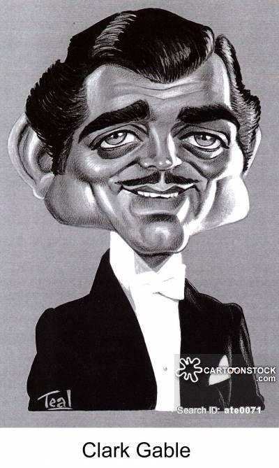 Clark Gable Caricature Actresses - #actresses #caricature #clark #gable - #AliLarter