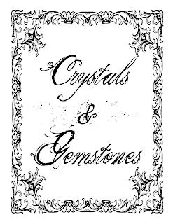 Crystals and Gemstones Book of Shadows Free Printable