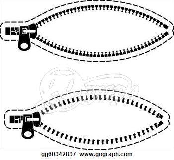 Clip Art Vector Vector Zipper Black Symbols Stock Eps Gg60342837 Vector Clip Art Symbols