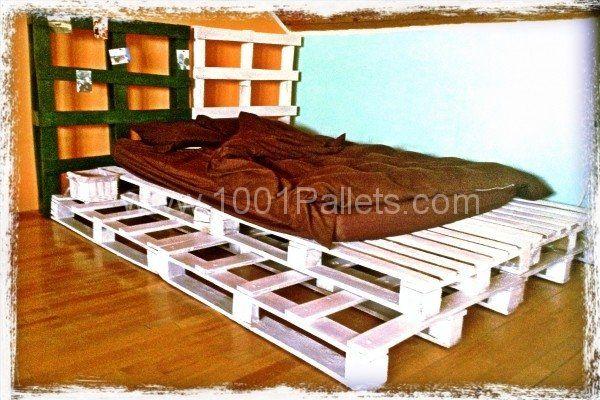 Pallet bed  #Bed, #Furniture, #Pallets
