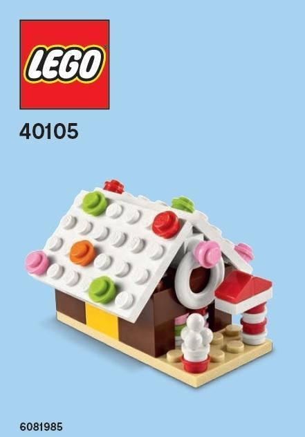 Lego Gingerbread House Parts & Instructions Dec 2014 Monthly Mini Model 40105 #LEGO