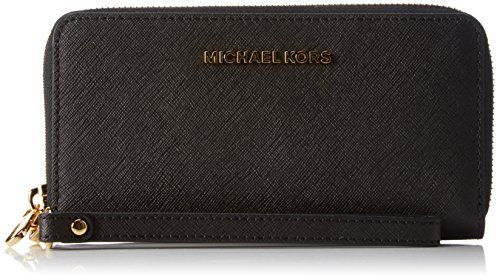 MICHAEL Michael Kors Women's Jet Set Travel Phone Case, Black, One Size ** See this great product.