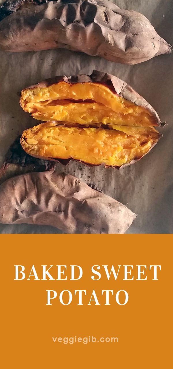 Baked sweet potato #vegan #sweetpotato