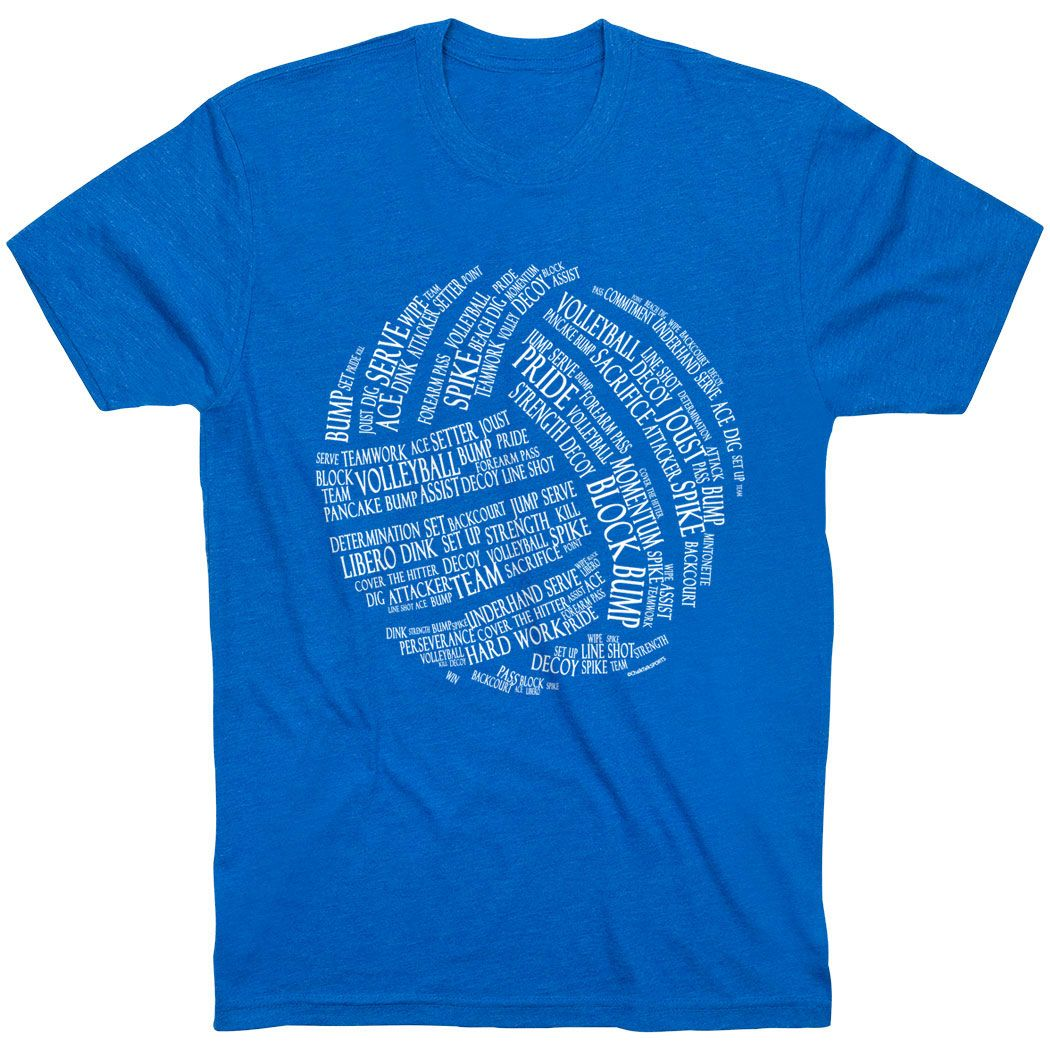 2e5a7528 Volleyball Youth Short Sleeve T-Shirt - Volleyball Image | Royal, Youth, M  | Volleyball Youth Apparel