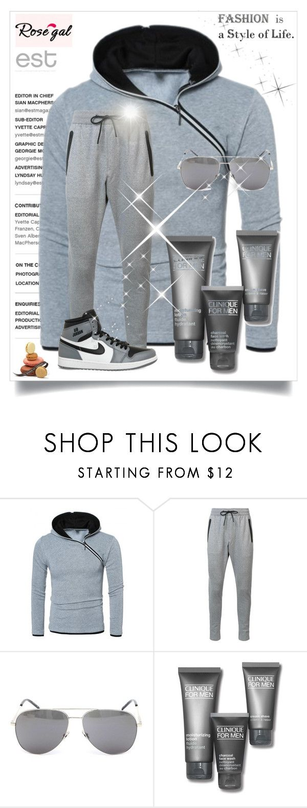"""""""Rosegal 033"""" by besirovic ❤ liked on Polyvore featuring Zanerobe, Yves Saint Laurent, Clinique, NIKE, men's fashion and menswear"""