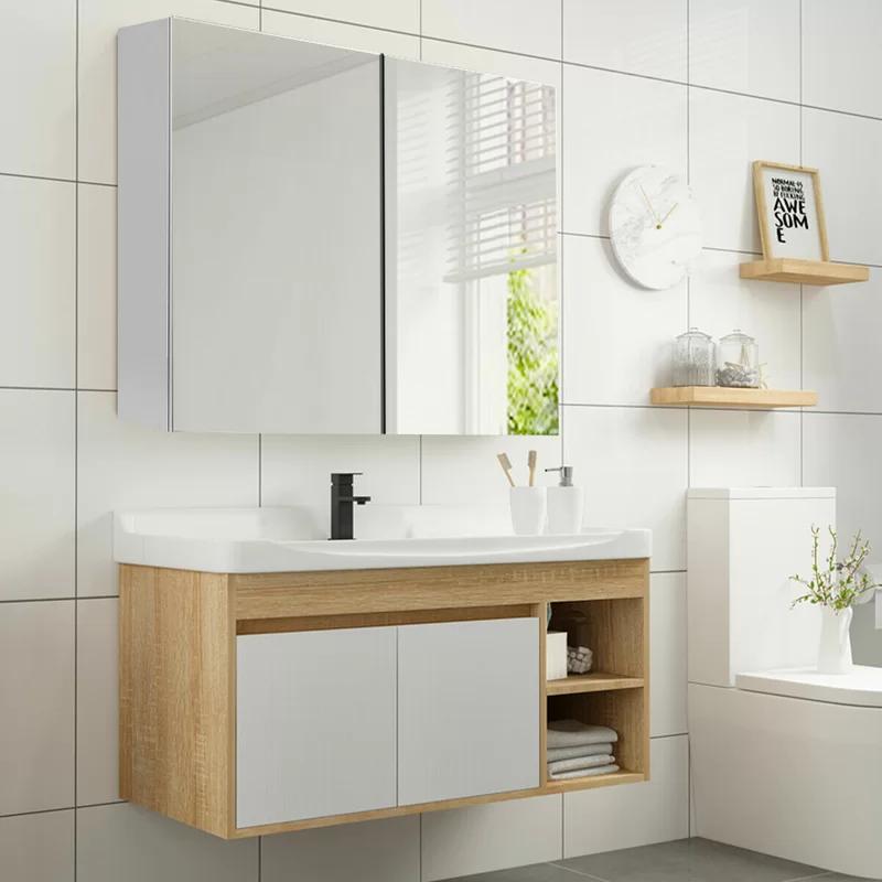 Ballarat Wall Mount Mirrored Bathroom Surface Mount Frameless 2 Door Medicine Cabinet With 3 Adjustable Shelves Wall Mounted Bathroom Cabinets Wall Mounted Mirror Adjustable Shelving
